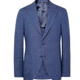 Loro Piana Blue Toledo Slim-Fit Linen Blazer