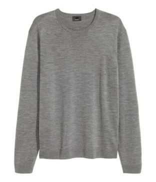 H&M Merino Wool Grey Sweater