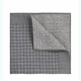 Boss Wool Patterned Pocket Square