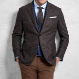 Brook's Brothers Golden Fleece Brown Rust Texture Sport Coat