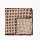Brunello Cucinelli Circled Dot Wool and Silk Boucle Pocket Square