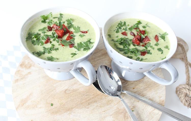 courgette soep met krokantjes van chorizo