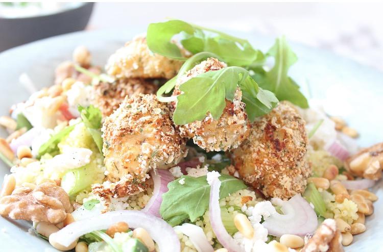 Extreem Couscous salade met krokante kip.. &SV81