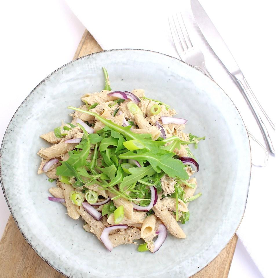Pasta salade met makreel