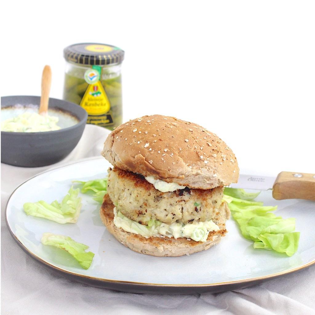 Kabeljauwburger met remouladesaus