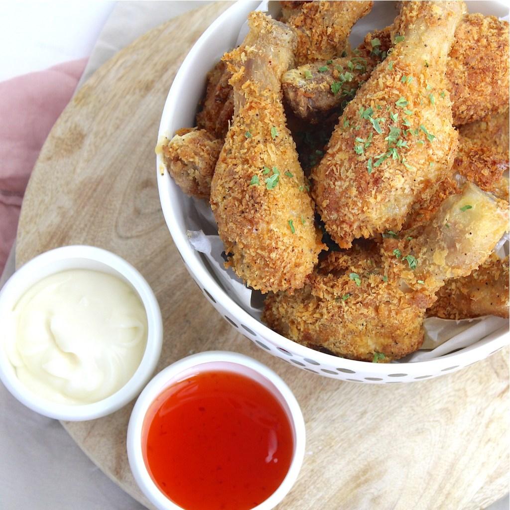 recept voor KFC krokante drumsticks