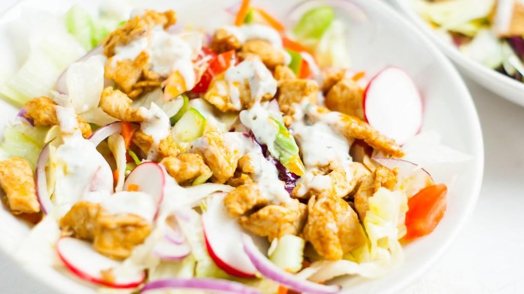 Simpele shoarma salade