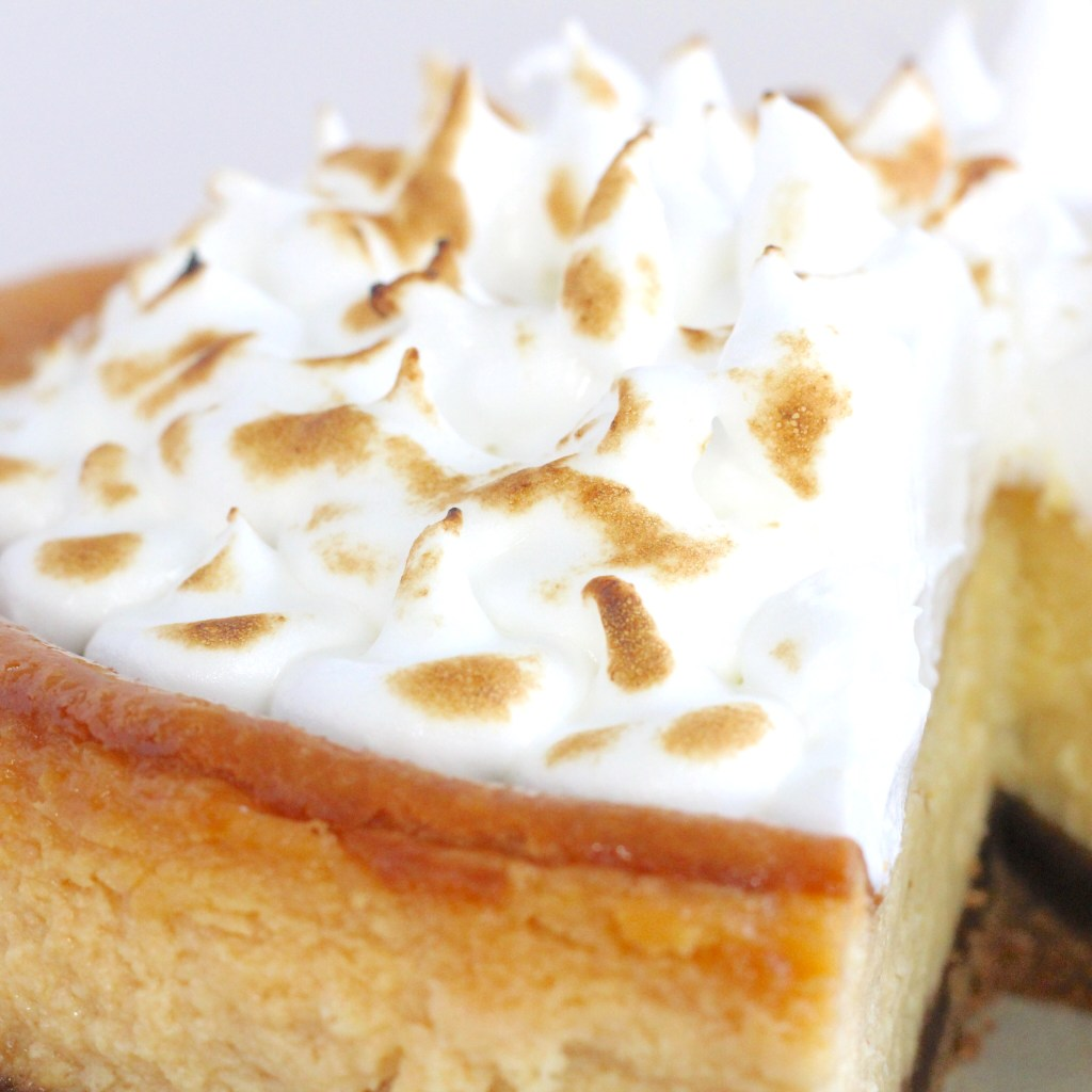 Lemon cheesecake met Italiaanse meringue