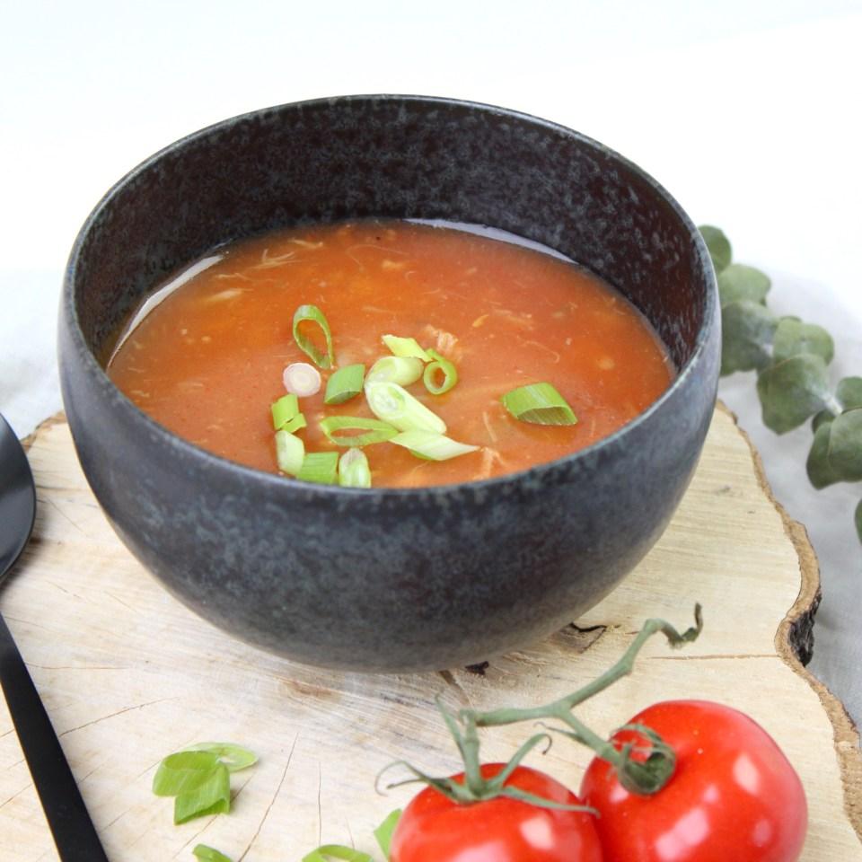 Chinese tomatensoep uit de slowcooker