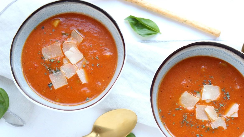 Simpele geroosterde tomatensoep
