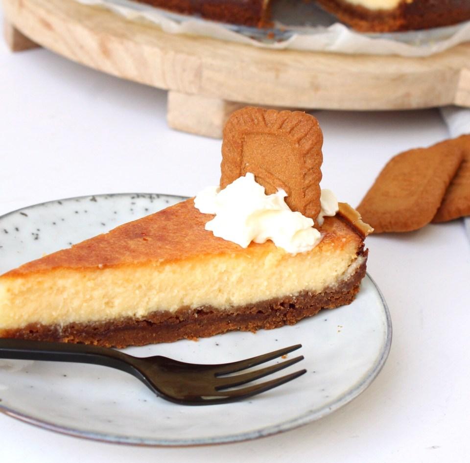 Cheesecake met Lotus koffieleutjes en een vleugje citroen