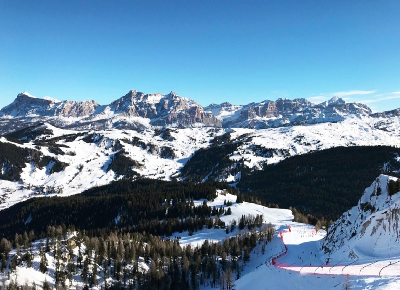 Wintersport in de Dolomieten