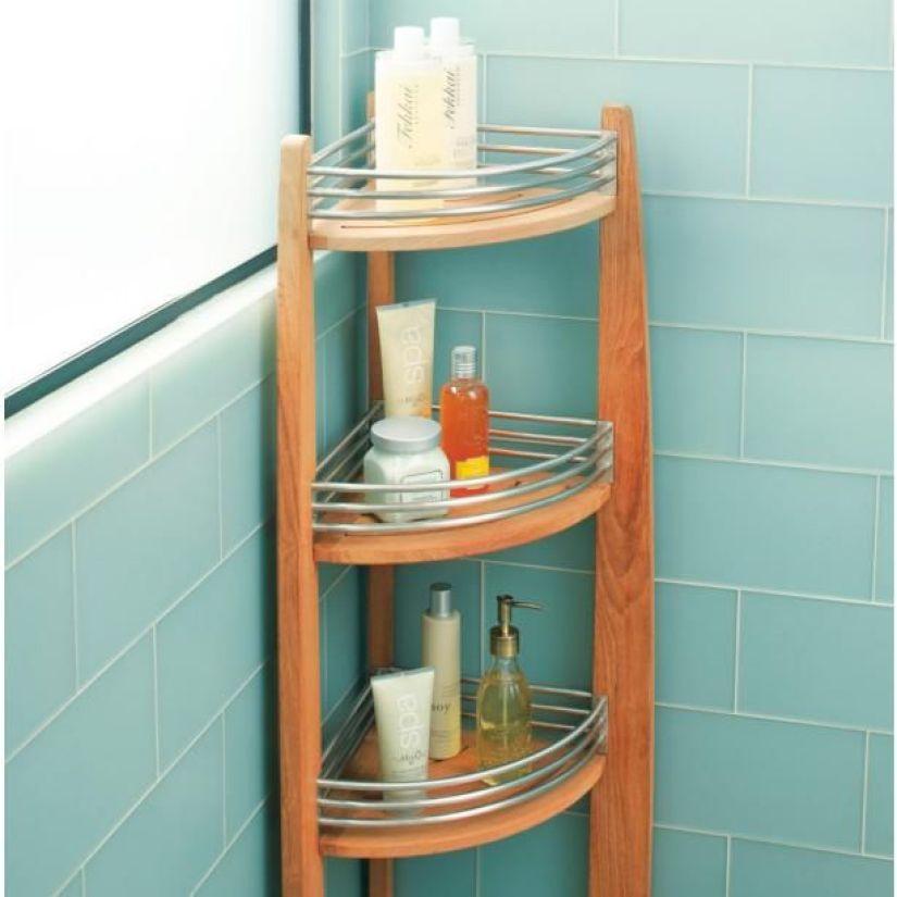 corner shelf ideas for bathroom