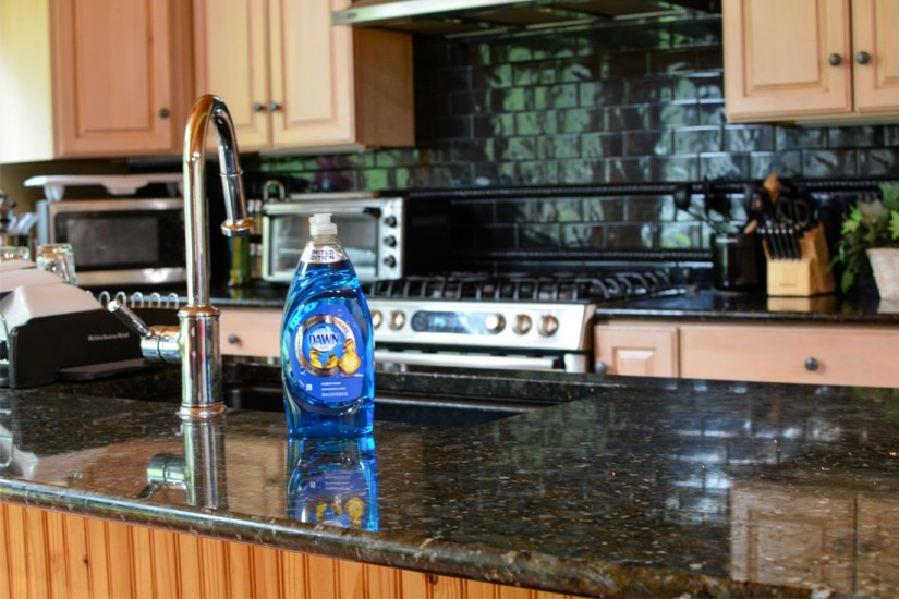 cleaning granite countertops with dawn