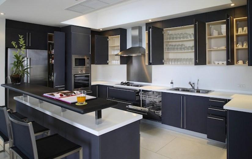 kitchen countertop ideas with dark Cabinets