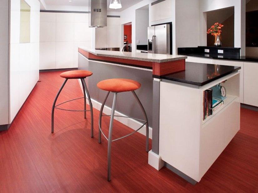 painted white kitchen floors