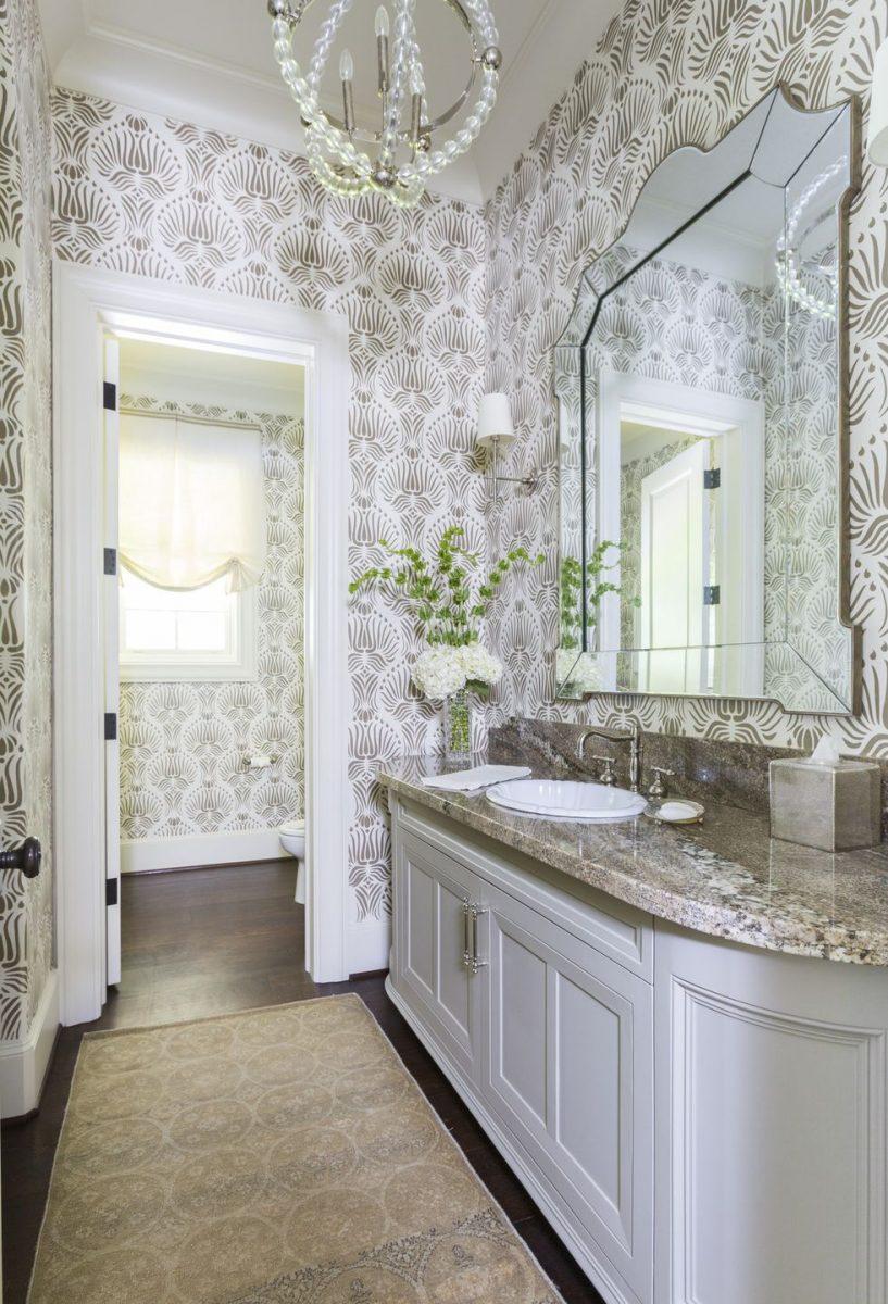 half bathroom towel bar ideas