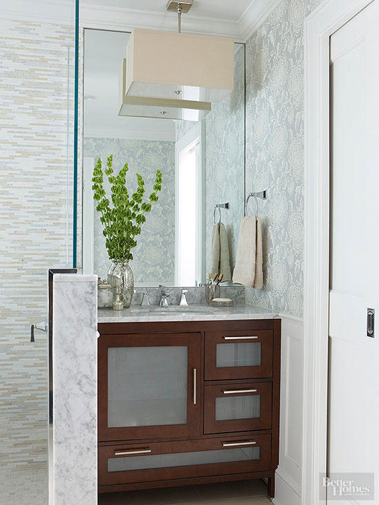 bathroom vanity shelf ideas