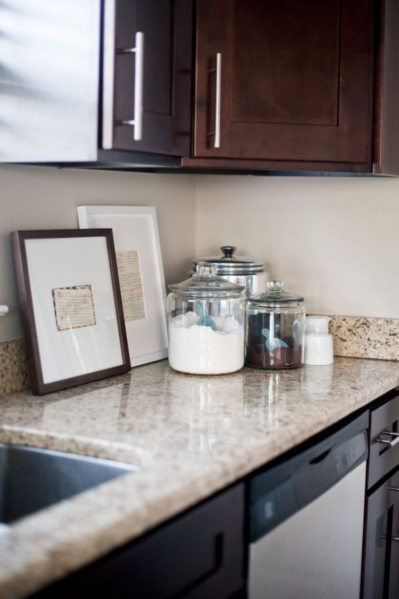 23 Impressive Kitchen Counter Decor [Ideas for Styling ... on Kitchen Counter Decor Modern  id=35413