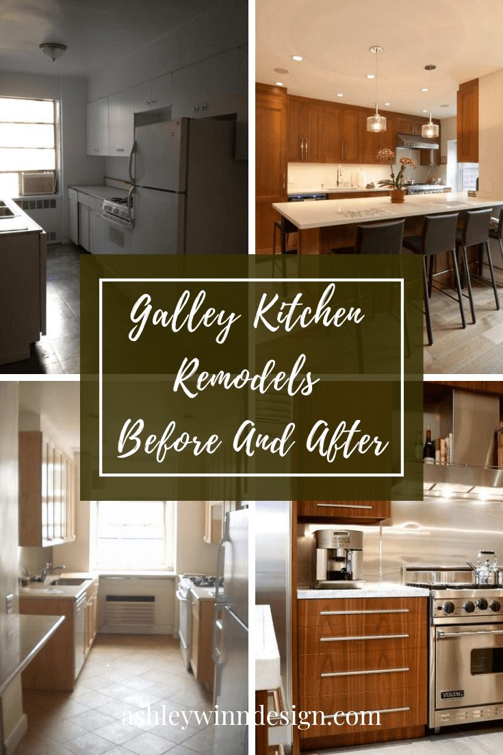 galley kitchen remodel before and after