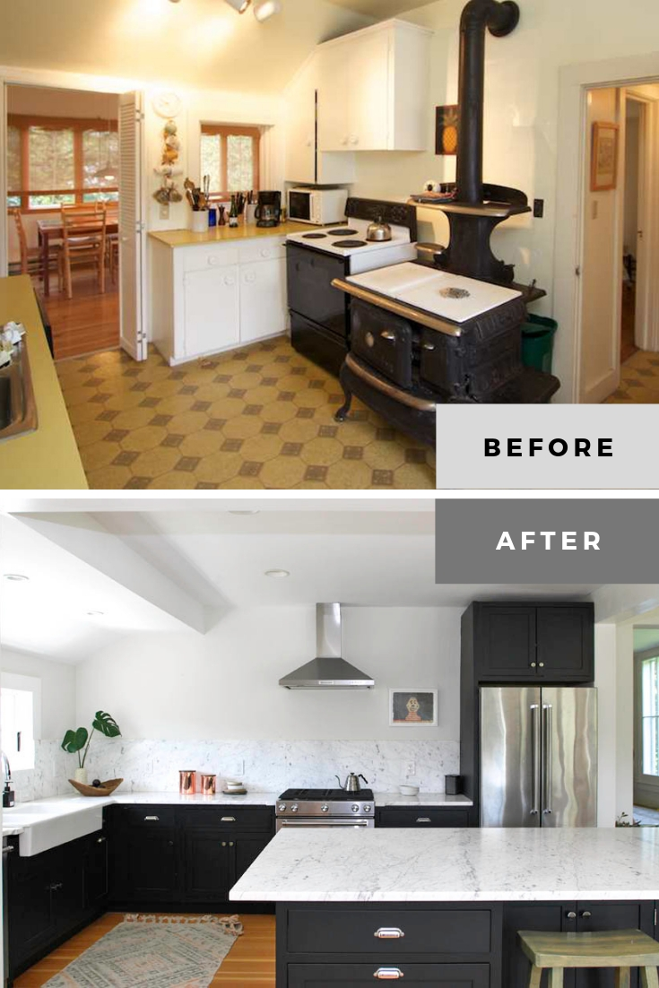 cheap kitchen remodel before and after