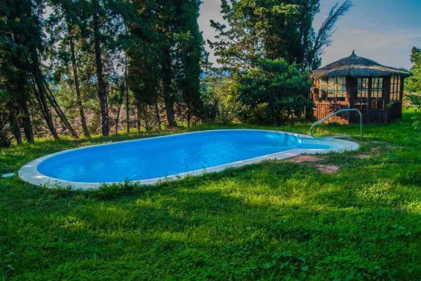 modern landscape backyard pool