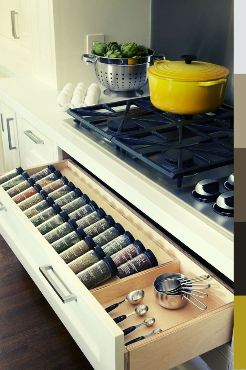 modern spice rack drawer