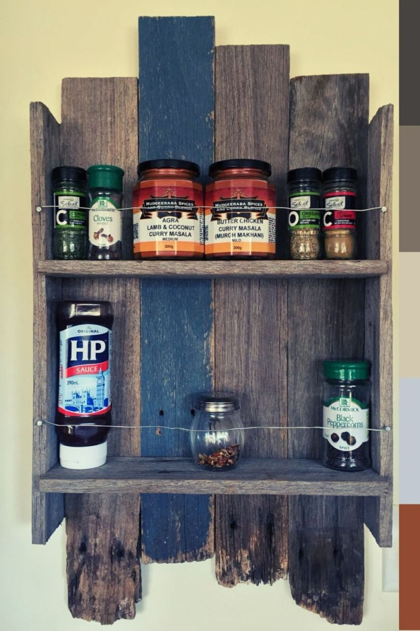 rustic kitchen spice rack ideas for traditional homes