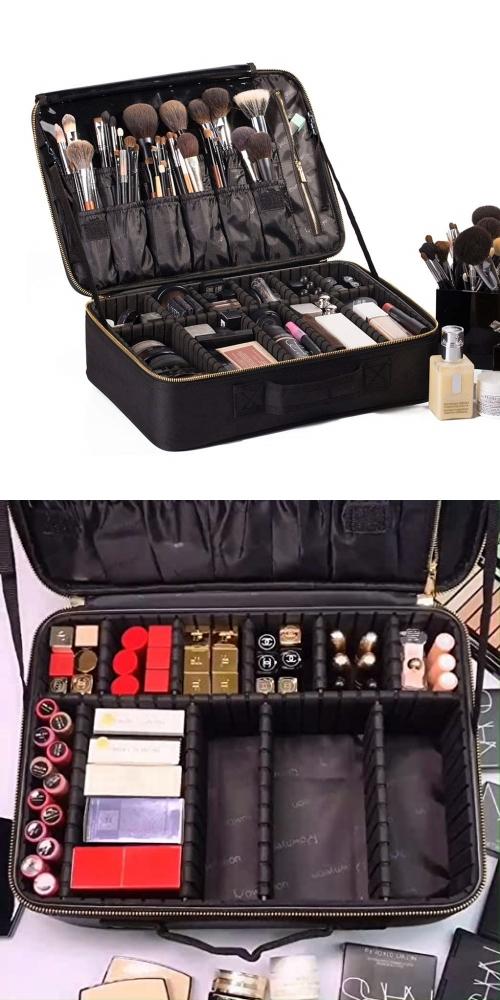 plain makeup travel case