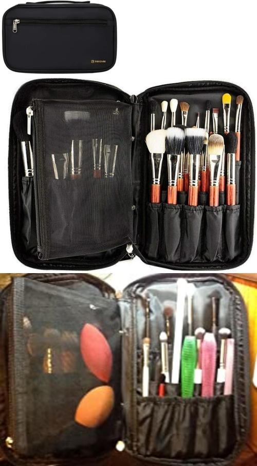 portable brush makeup storage