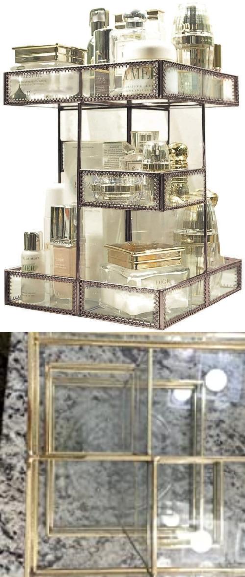 glamorous makeup storage