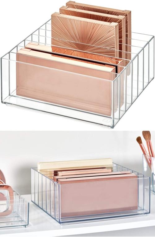 wide makeup palette storage
