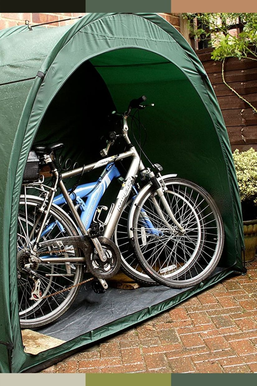 outdoor tent bike storage