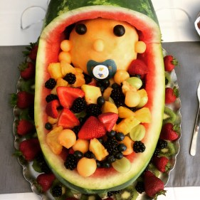 Fruit Carving for a Baby Shower