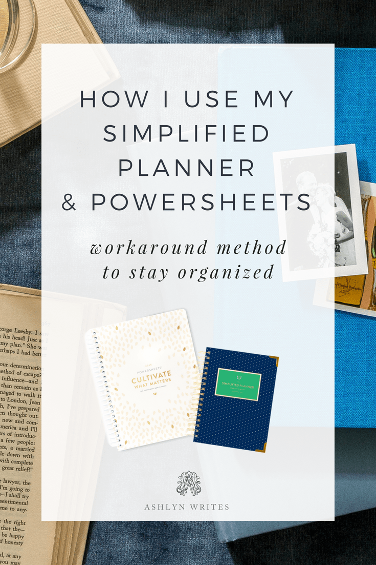 How I use my powersheets and simplified planner