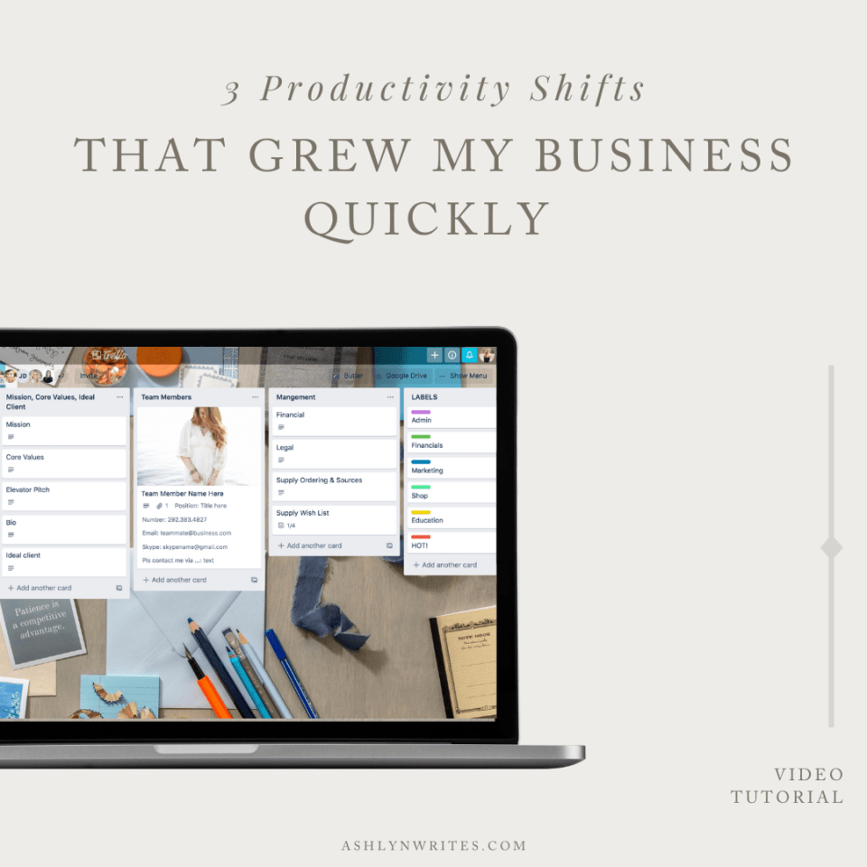 3 Productivity Mindset Shifts for Small Businesses that Grew My Creative Biz Quickly