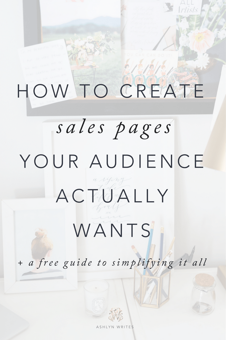 how to create a sales page ashlyn writes