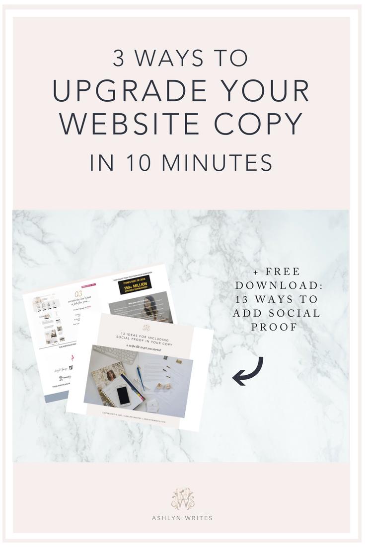 Website copywriting tips for creative entrepreneurs Ashlyn