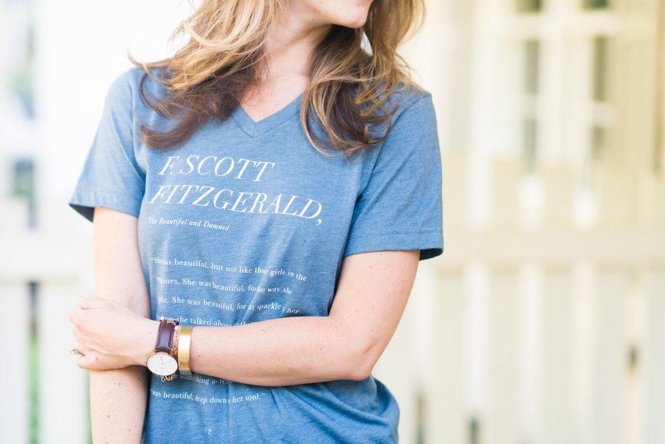 Ashlyn Carter copywriter at Ashlyn Writes Scarlet and Gold F. Scott Fitzgerald quote