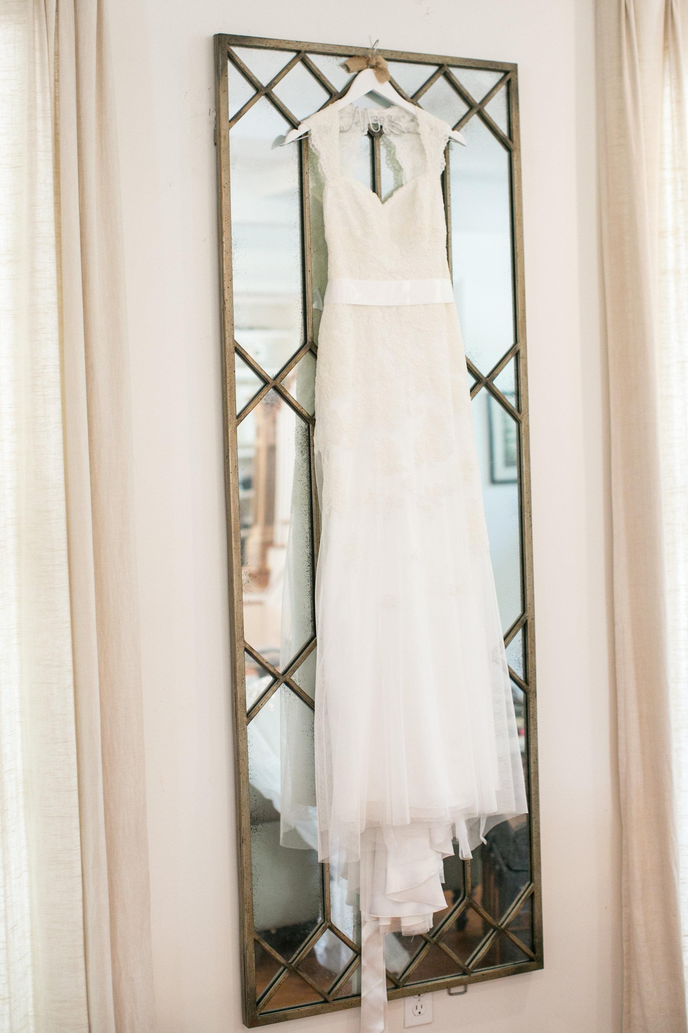 Wedding dress for Mississippi wedding at Plein Air