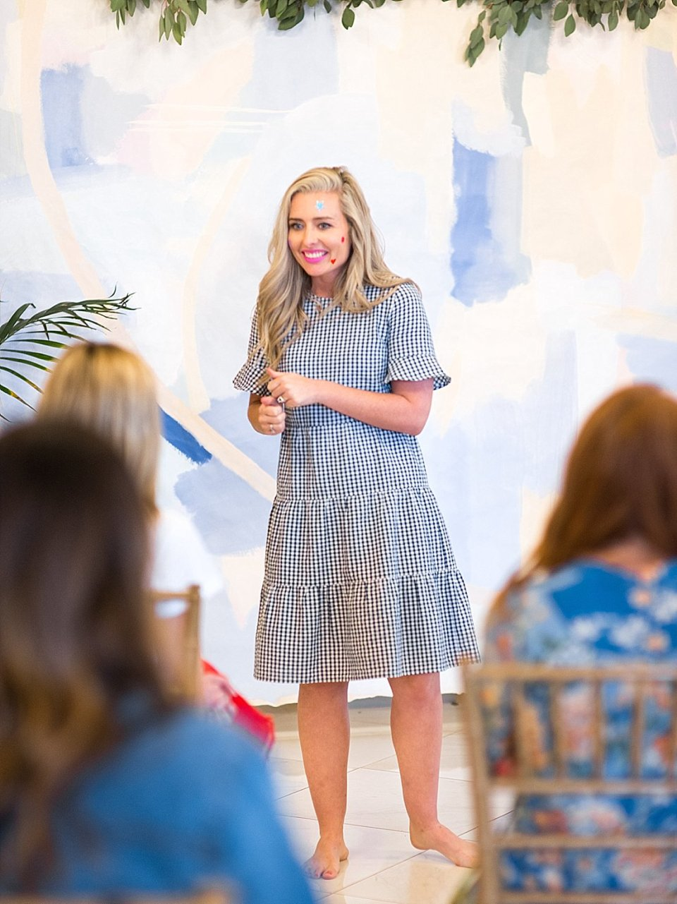 The Joyful Influencer retreat at the kentucky castle Instagram influencer event Ashley Lemieux speaking