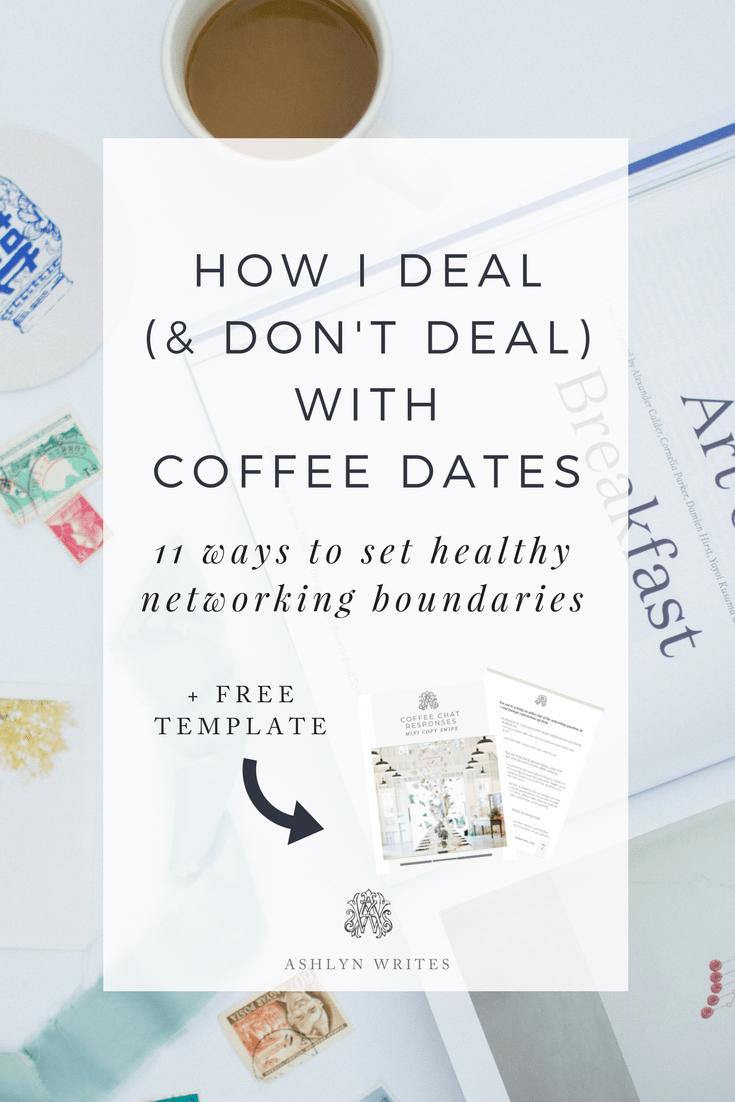 How to network with coffee dates Ashlyn Carter of Ashlyn Writes copywriting