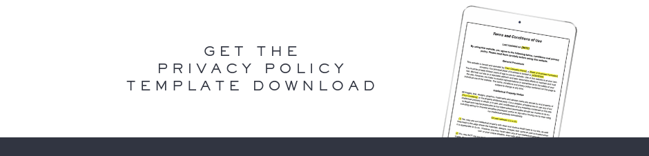 Website privacy policy template download link from Ashlyn Writes and The Contract Shop