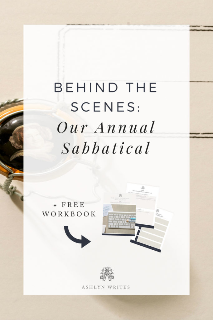 Behind the Scenes of our Annual Sabbatical