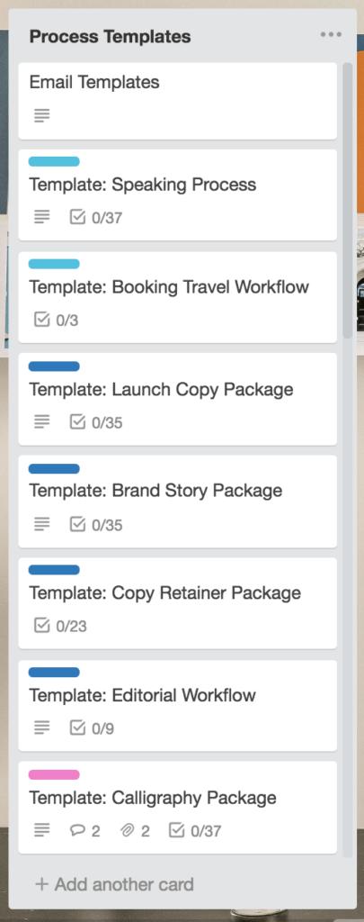 AW Trello How to - Workflow