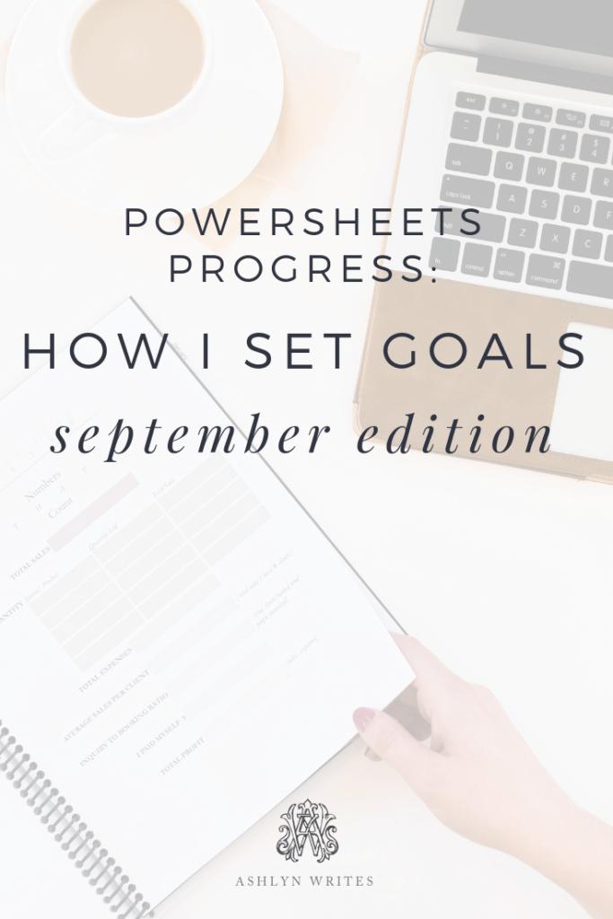 September Powersheets review Plan with me Ashlyn Carter of Ashlyn Writes
