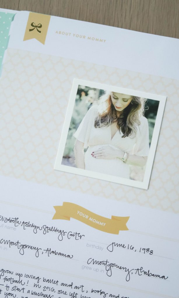 Simplified Baby Book by Emily Ley Ashlyn Carter of Ashlyn Writes