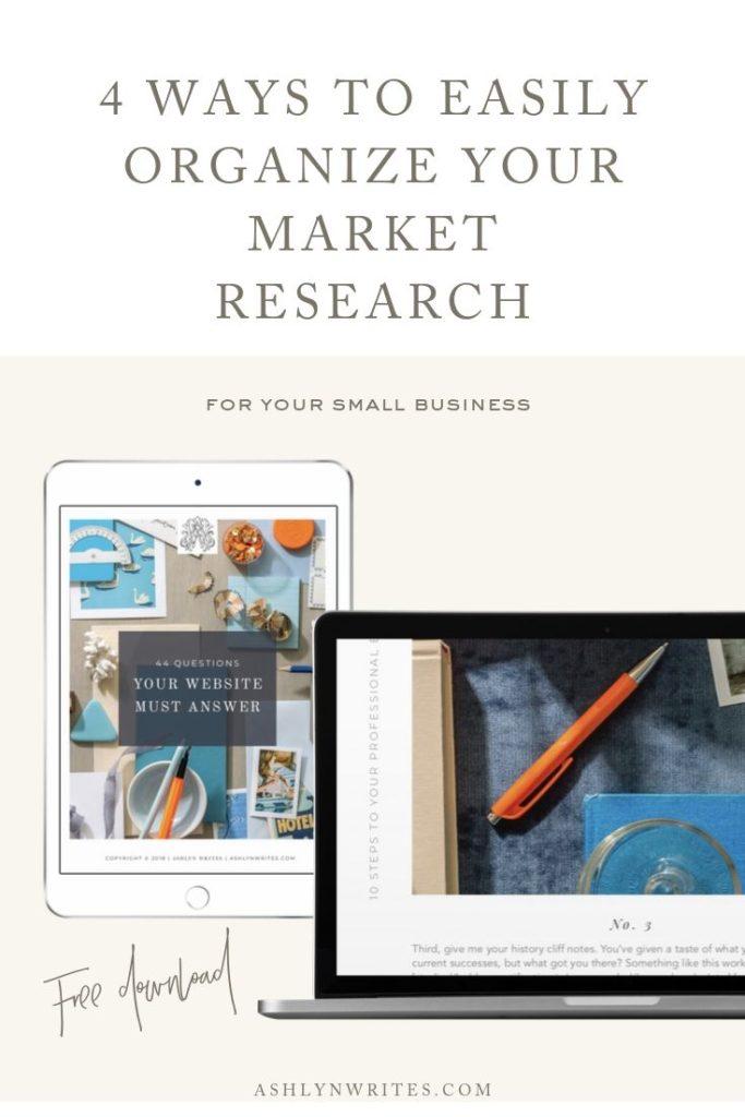 4 Ways to Easily Organize Your Market Research - Ashlyn Writes Copywriting