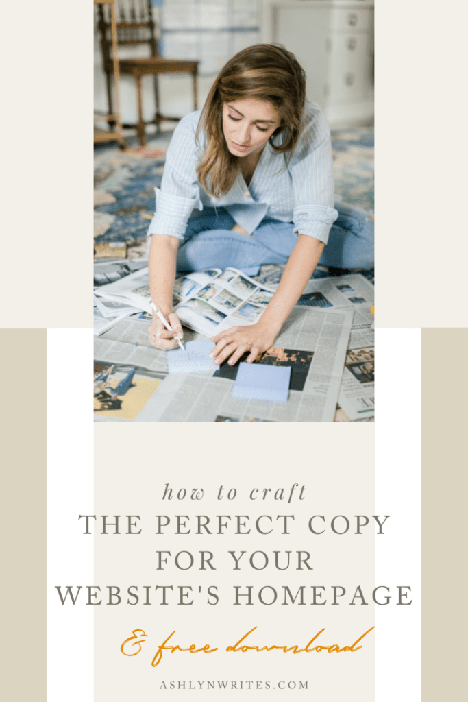 The perfect copy to have on your homepage   Ashlyn Writes