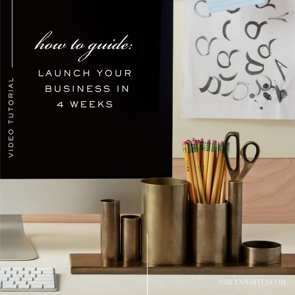 Launch your business in 4 weeks